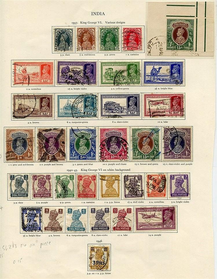 INDIA 1937-51 (109) Cat. £546. FEUDATORY STATES - HYDERABAD (15)
