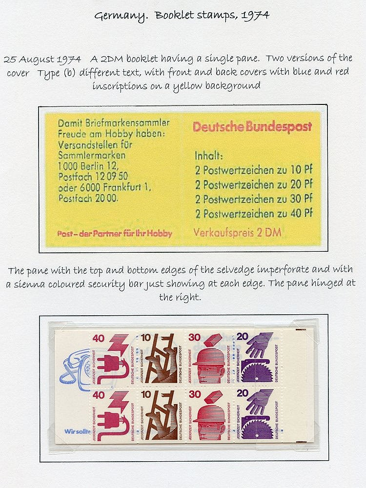 1972-77 fine range of complete booklets with single pane Accident