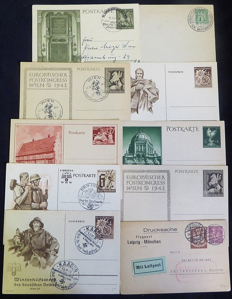 c1870's-1930's selection of postal stationery, M & U with emphasi
