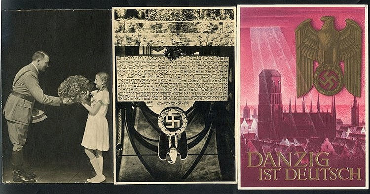 Third Reich propaganda PPC's, mainly unused incl. several featuri