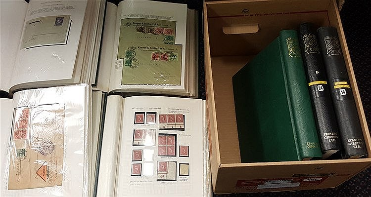 1900-25 substantial M & U + covers collection housed in seven Sen