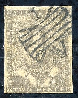 Ham Sixth Printing 1850 2d grey [6], close to large margins, clea
