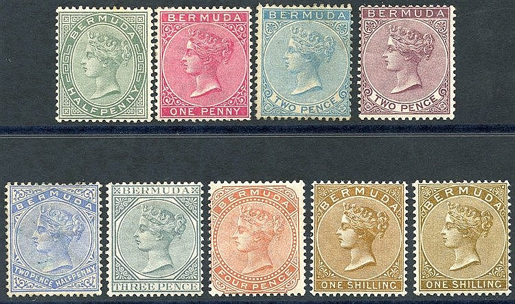 1883-1904 CCA set + extra 1s, fine M (2d blue is unused), SG.21/2