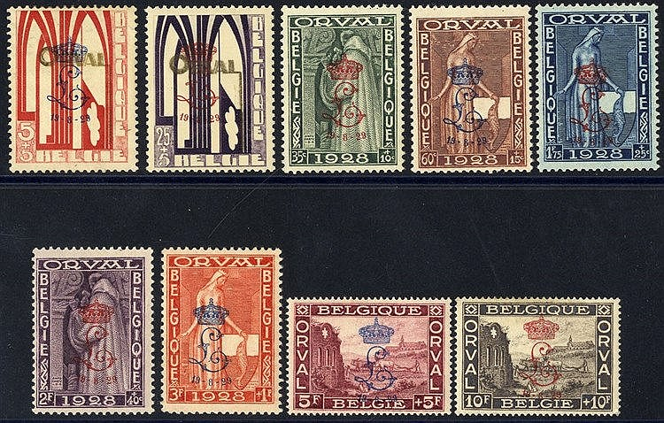 1929 Orval Abbey set fine M, SG.543/551. (9) Cat. £800