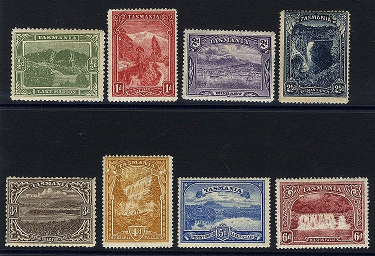 1899-1900 Pictorial set, M (2½d fault), SG.229/236. (8) Cat. £150