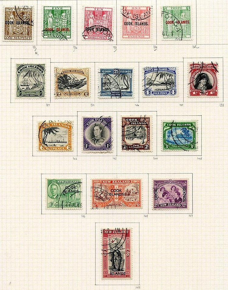 1936-49 collection U on philatelic leaves with 1936 2s & 3s, sing