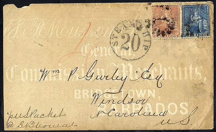 1870 cover to Windsor, North Carolina bearing 1861-70 1d blue & 4