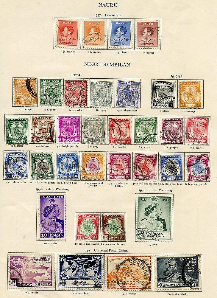 MALAYA - NEGRI SEMBILAN 1937-52 complete (31) Cat. £468 + NAURU (