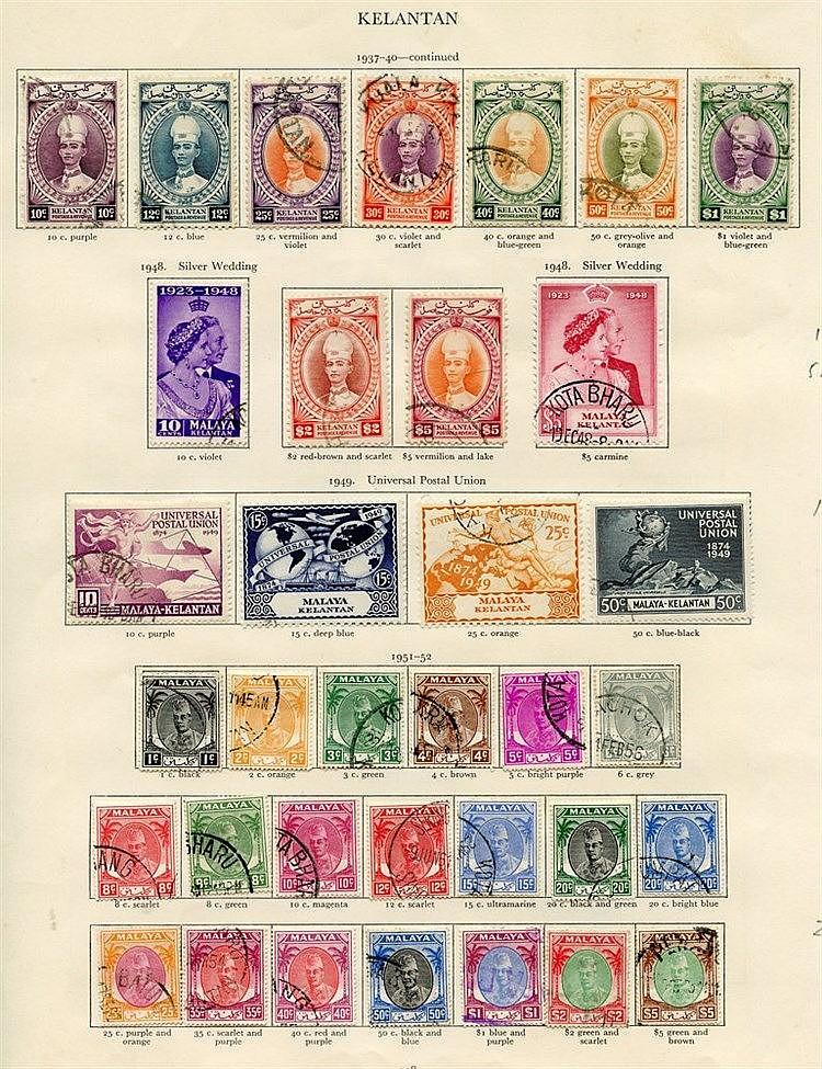 MALAYA - JOHORE (35), KEDAH (36), KELANTAN (41) 1936-51 complete.