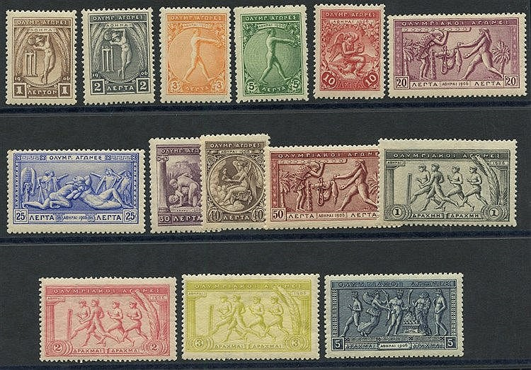 1906 Olympics set of 14 values, fresh & fine M, SG.183-196. A fin