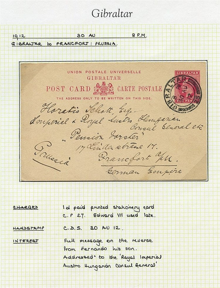 20thC collection of used KGV postal stationery comprising various