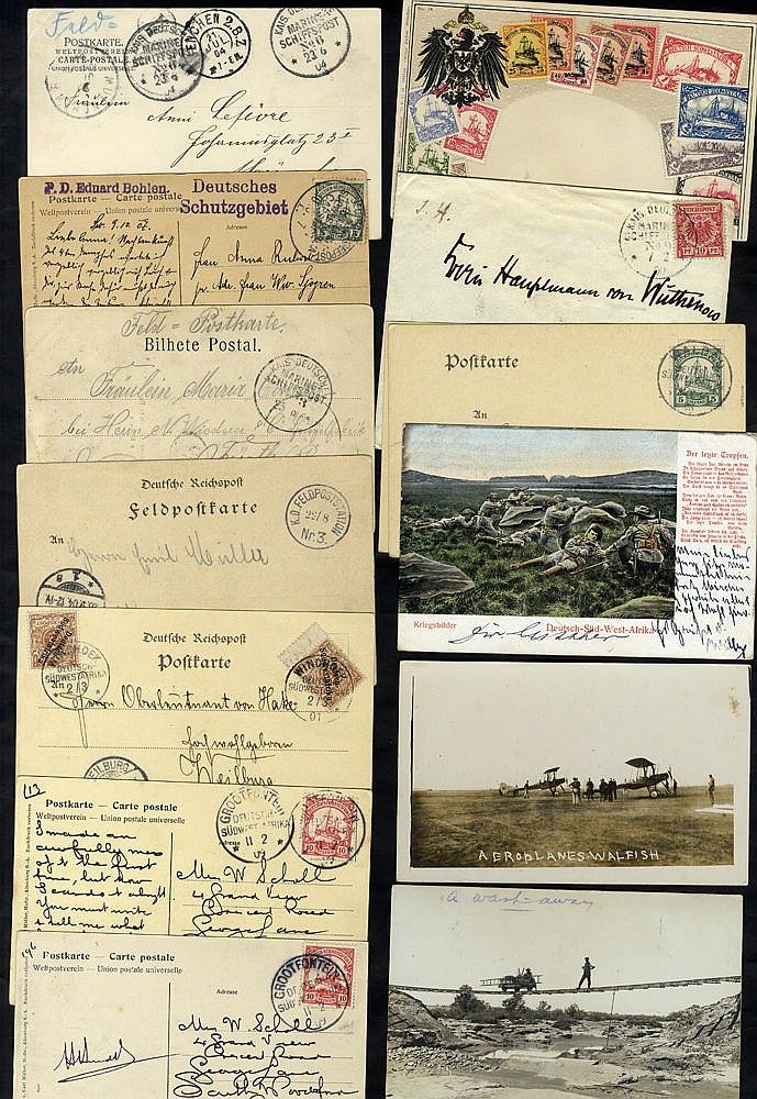 SOUTH WEST AFRICA 20thC various German Seapost cancels on postcar