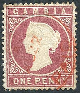 1880-81 CCC wmk sideways Line Perf 14 1d maroon, lightly cancelle