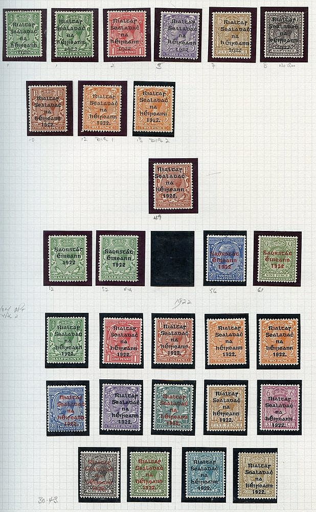 1922-2005 M & U collection housed in a multi ring album with smal