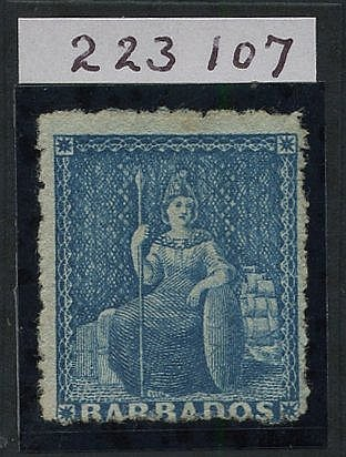1870 Wmk Large Star, rough Perf 14 to 16 1d blue, fresh unused wi