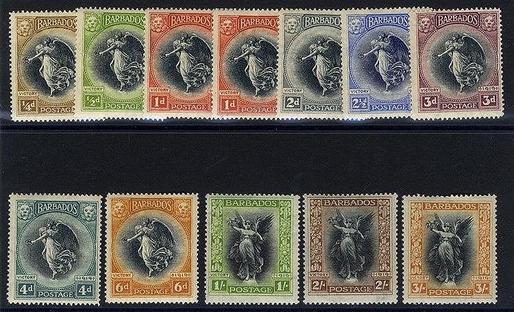 1920 Victory set, fine M, SG.201/212. (12) Cat. £150