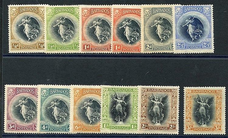 1920 Victory set M, SG.201/212. (12) Cat. £150