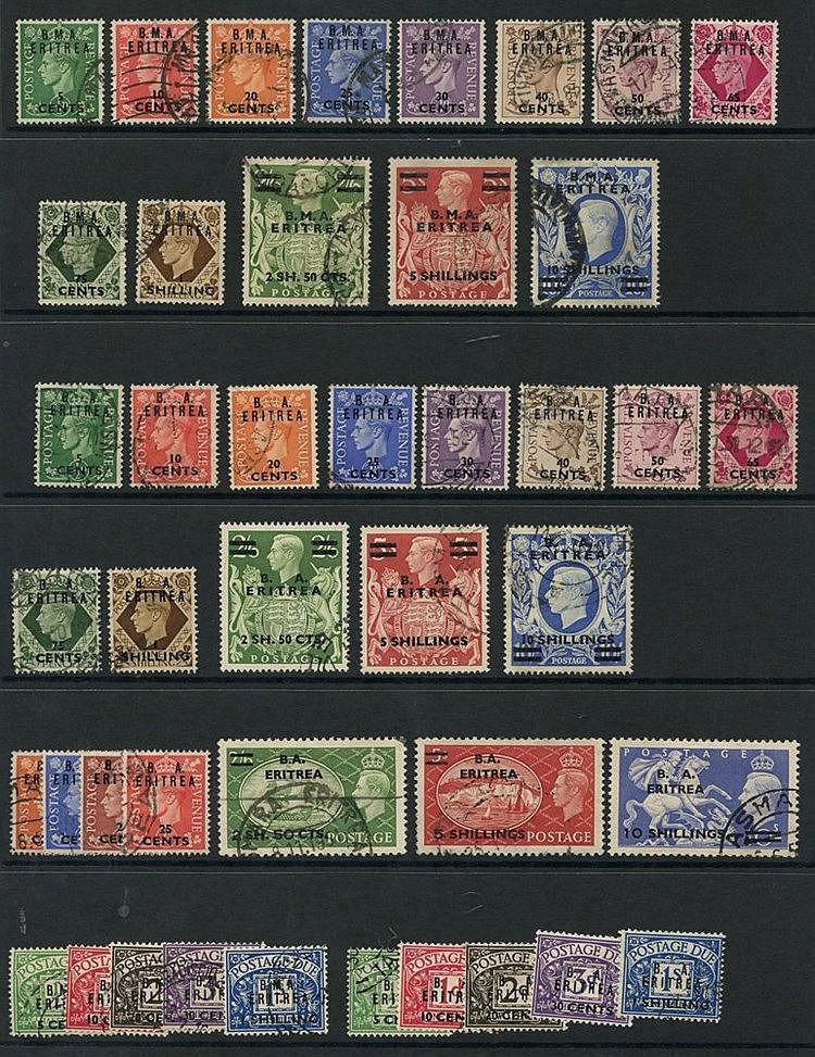 BRITISH OCC OF ITALIAN COLONIES - ERITREA 1948-50 complete (43) C