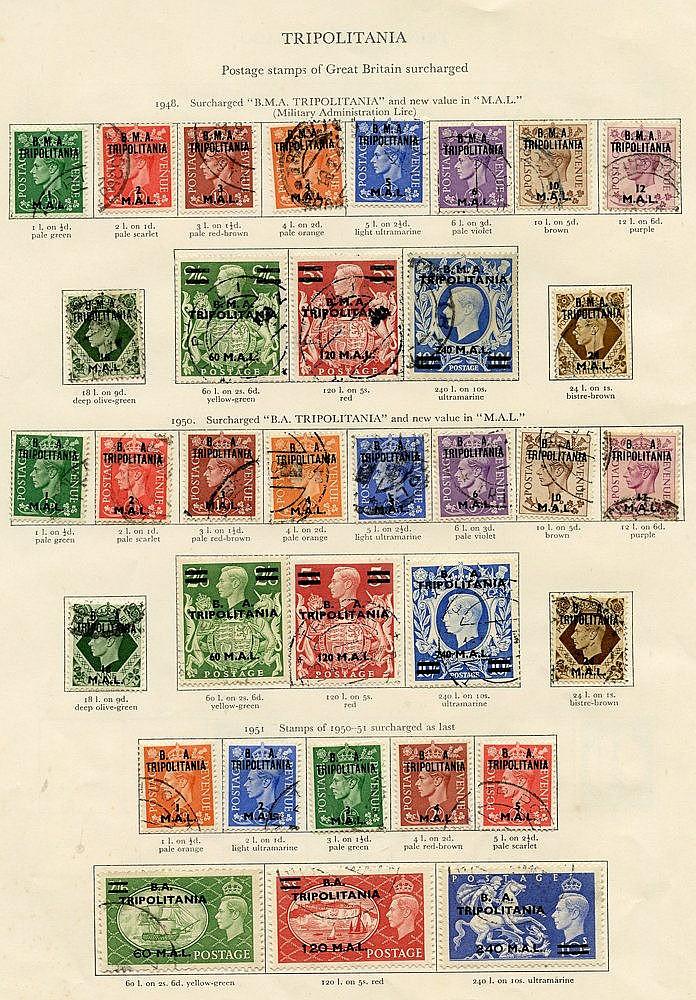 BRITISH OCC OF ITALIAN COLONIES - TRIPOLITANIA 1948-50 complete.