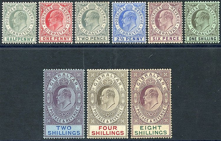 1906-11 Colours Changed MCCA set M, SG.66/74. (9) Cat. £550