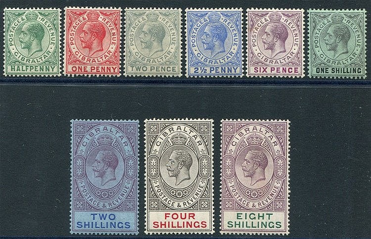 1912-24 MCCA set to 8s, fine M, SG.76/84. (9) Cat. £220