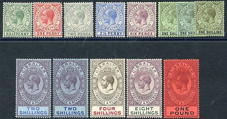 1912-24 MCCA set, M (4s has some rust marks o/w fine) + extra 1s