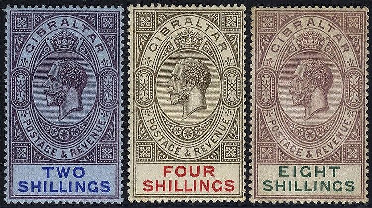1912-24 MCCA 2s, 4s & 8s M, SG.82/84 (3) Cat. £165
