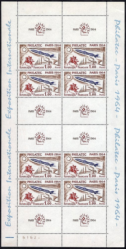 1964 PHILATEC Paris M/Sheet, UM (minor marginal bends), SG.MS1651