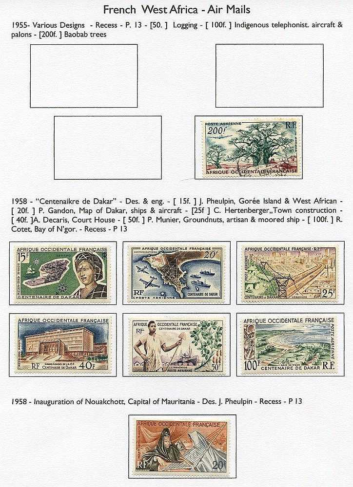 FRENCH COLONIES Algeria to Wallis & Futuna Is M & U collection ho