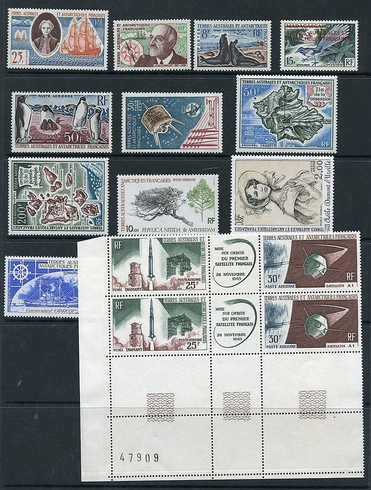 FRENCH SOUTHERN & ANTARCTIC TERRITORIES 1955-82 small lot of M
