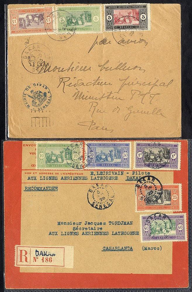 SENEGAL 1923 May 11th ROIG flight Dakar - Casablanca and on to Fr