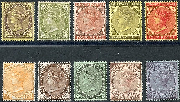 1905-11 QV set (excl. 6d - SG.52), fine M, SG.46/56 (10) Cat. £25