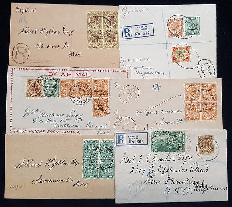 1917-30 selection of covers used either locally or to UK, Canal Z