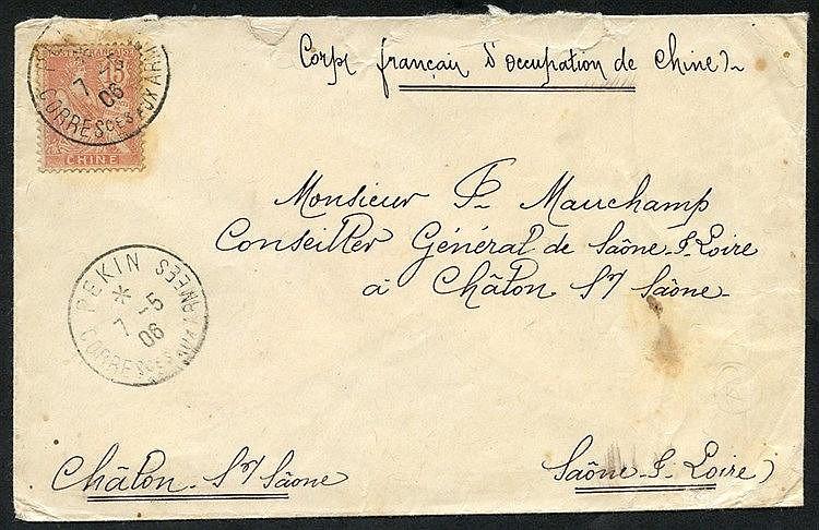 FRENCH PO's 1906 envelope endorsed 'Corps Francais D'Occupation d