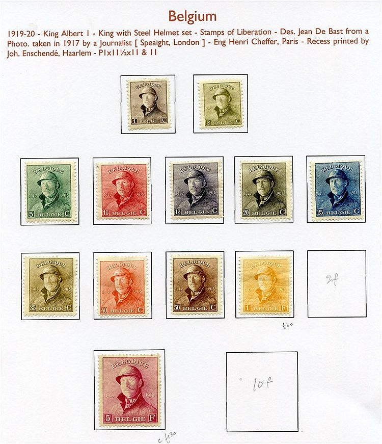 1851-1993 M & U collection housed in four Alpha Major albums.