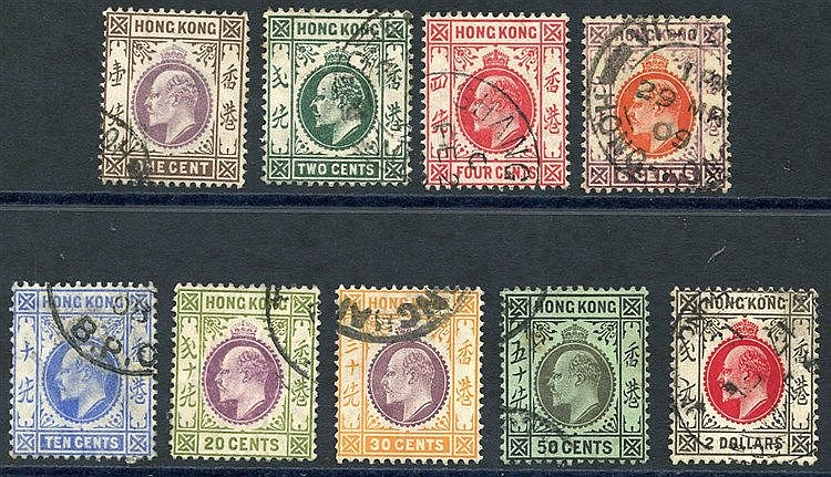 1907-11 MCCA set VFU, SG.91/99. Cat. £475.
