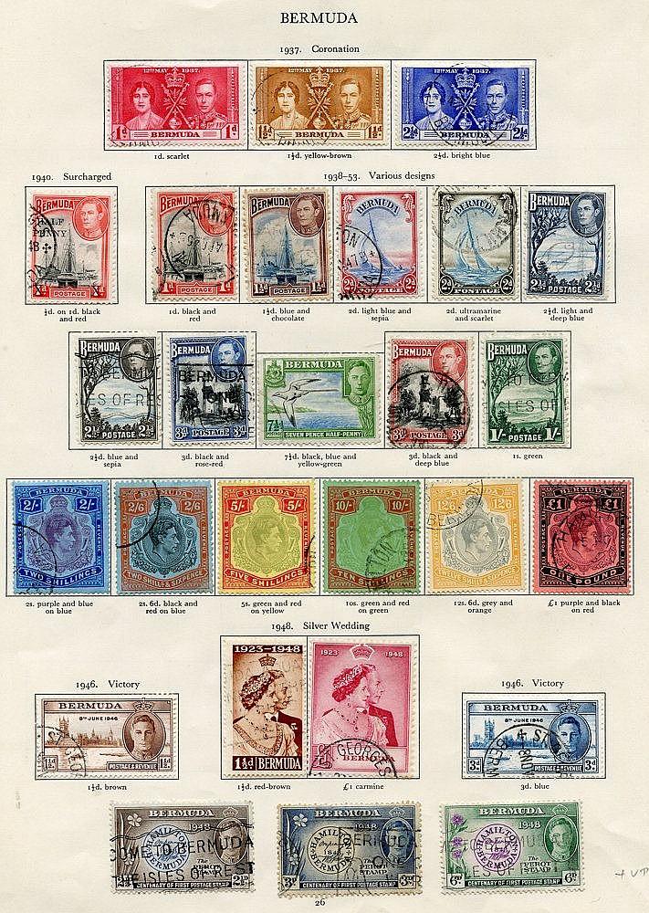 BARBADOS 1937-51 complete (55), BERMUDA 1937-49 complete (31) Cat