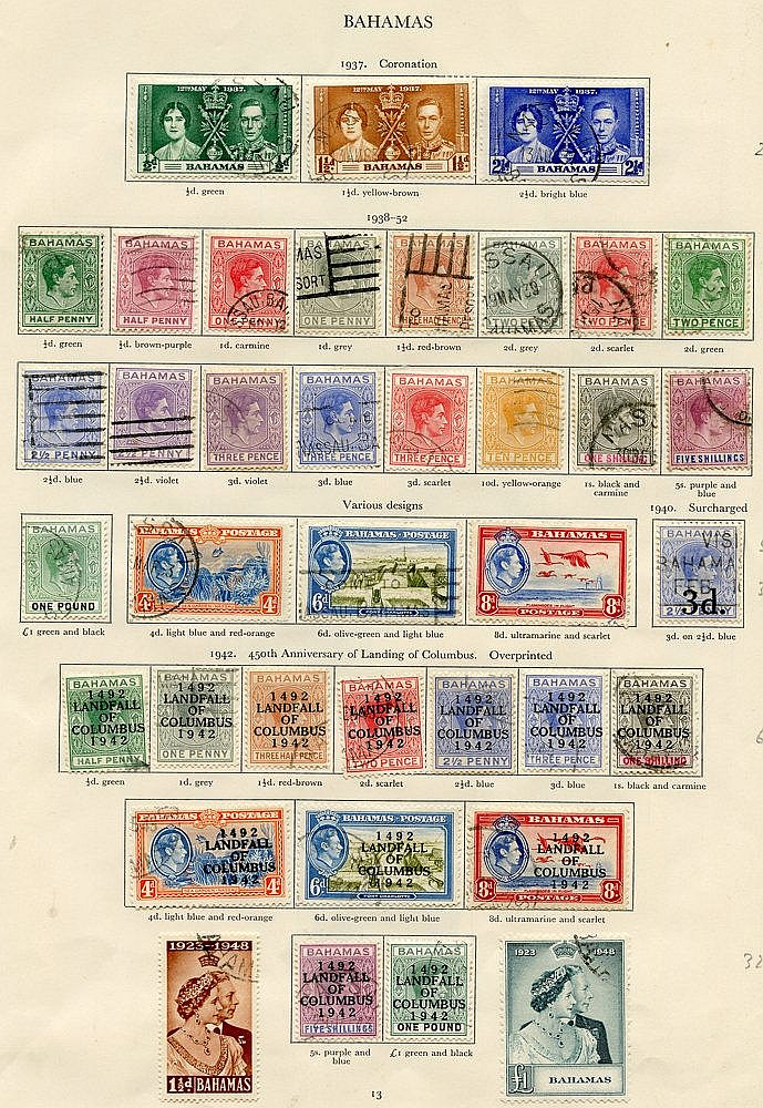 BAHAMAS 1937-49 complete, good to FU. Cat. £250