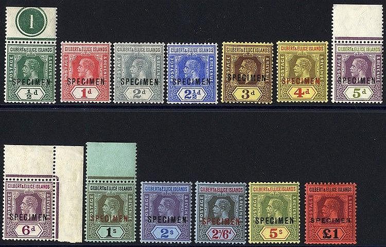 1912-24 MCCA set optd SPECIMEN (1s gum faults), SG.12s/24s. Scarc