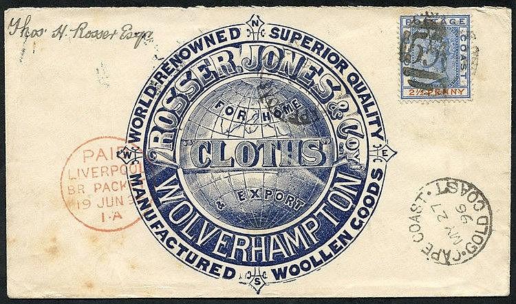 1896 (27 May) 'Rosser Jones & Co Wolverhampton' firm's advertisin
