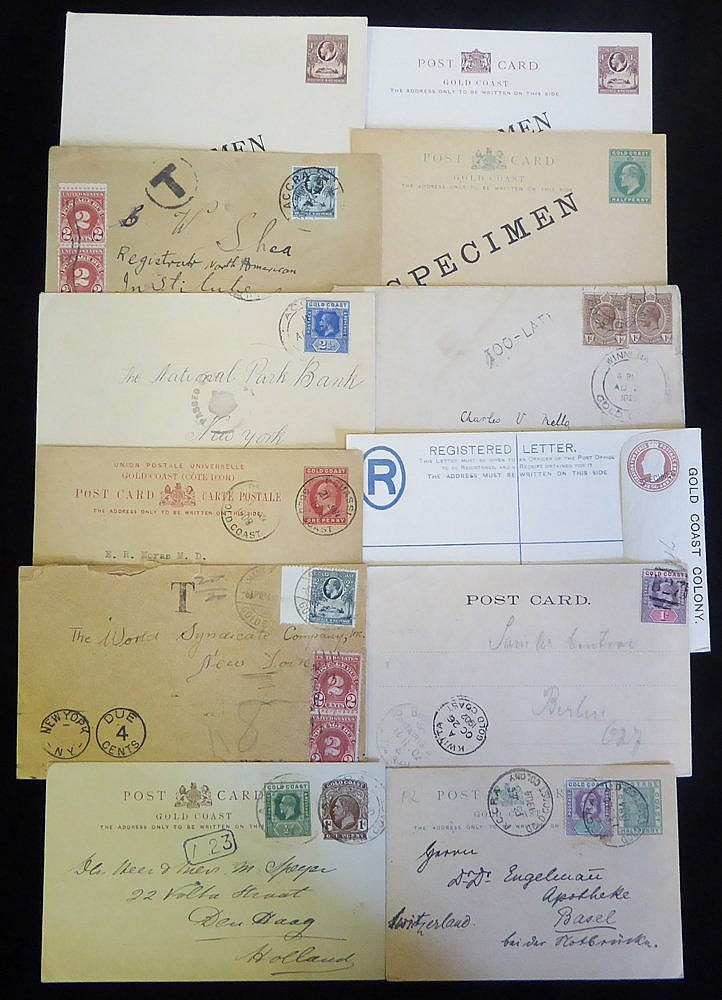 20thC early KEVII & KGV good range of postal stationery covers in