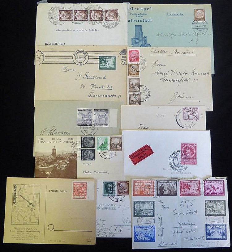 Third Reich bundle of covers & cards with a wide range of frankin