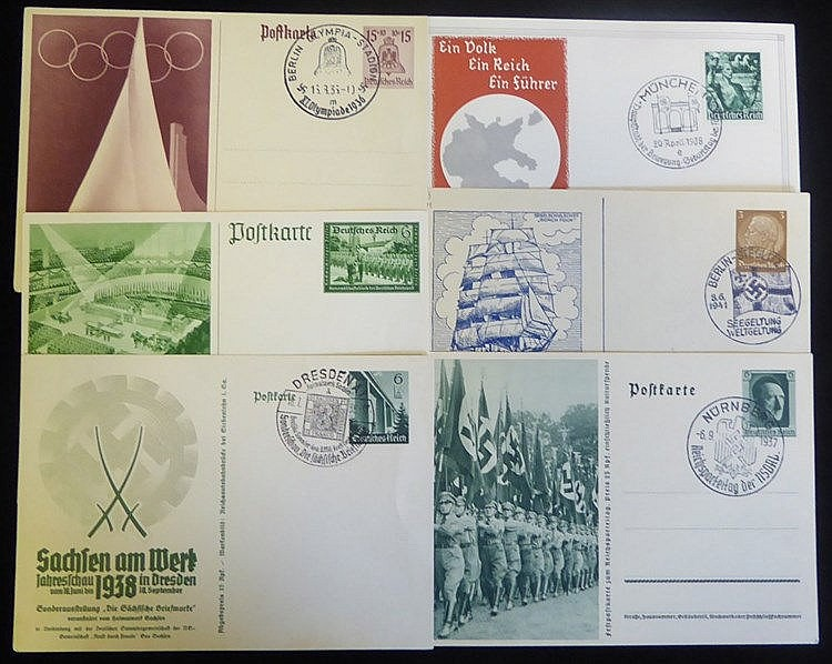 POSTAL STATIONERY OF THE THIRD REICH fine collection of 111 cards