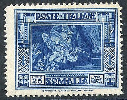 1935-38 Pictorial Series 25L Lion P.14, M (minor tones), Sass 230