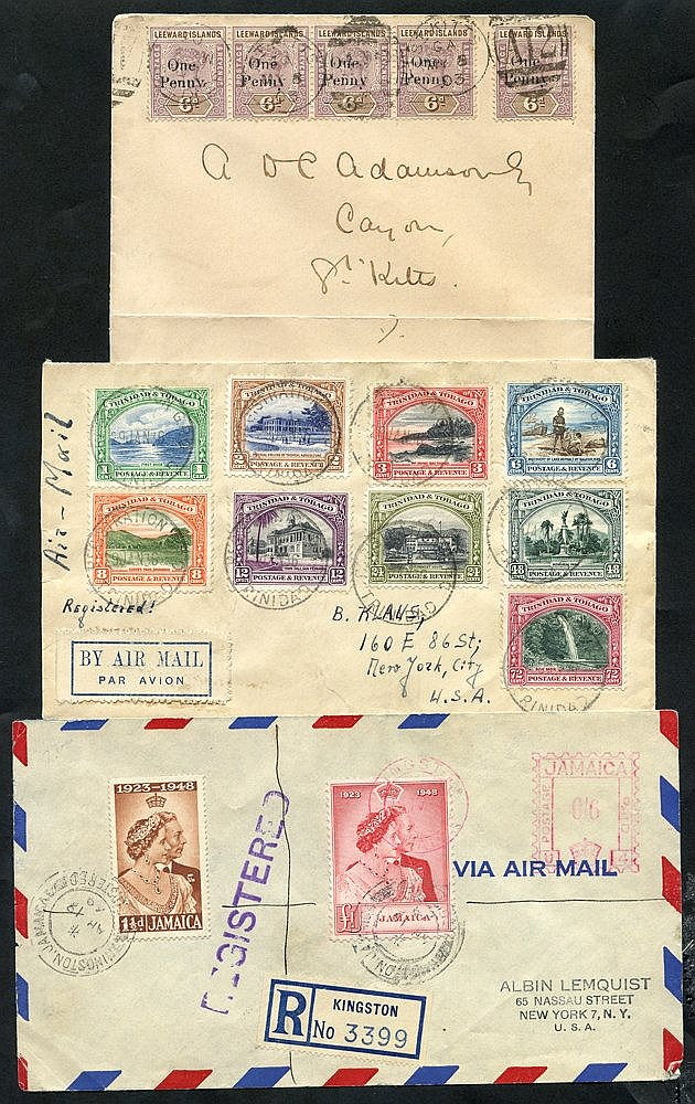 BRITISH WEST INDIES 20thC attractive (all areas) covers with 1903