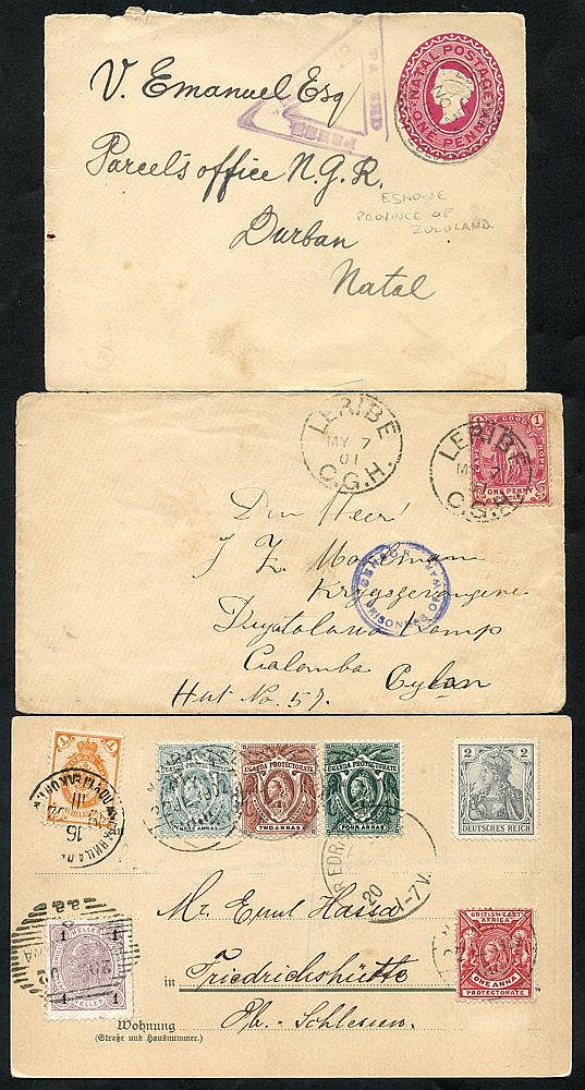 BRITISH AFRICA 20thC fine group of interest (all areas) with cove