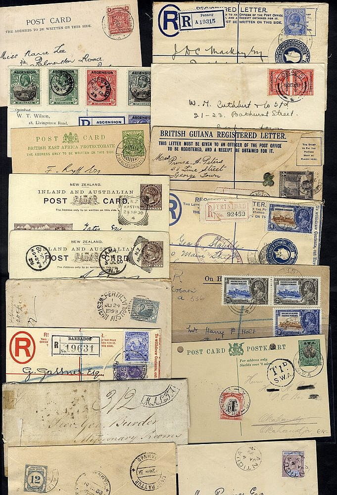 BRITISH COMMONWEALTH 19th & 20thC assembly of covers, EL's of all