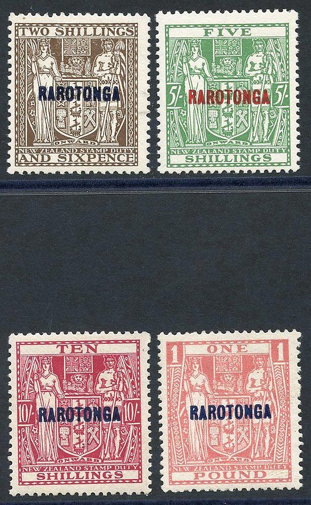 1931-32 Postal Fiscal set M, SG.95/8. (4) Cat. £198