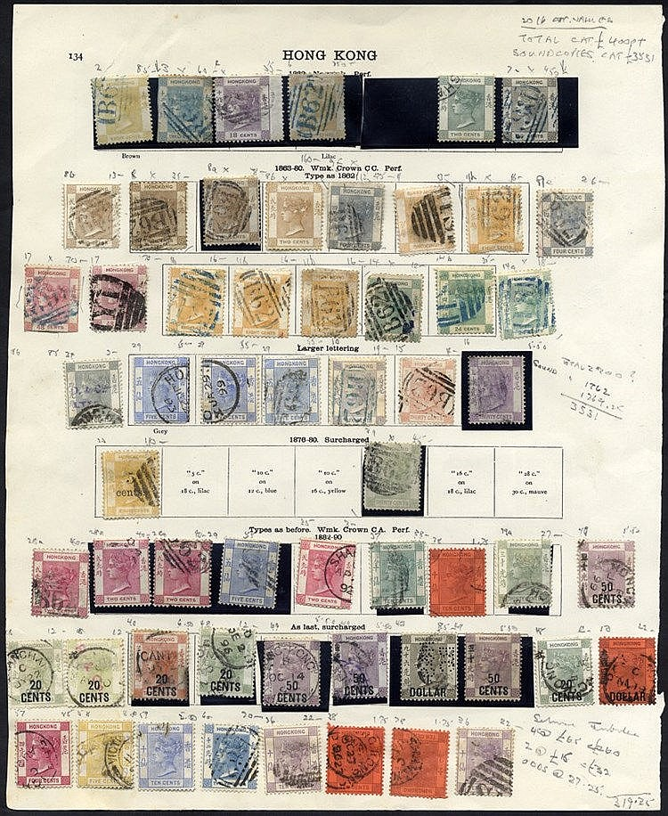 1862-1935 M & U collection on printed leaves, slightly duplicated