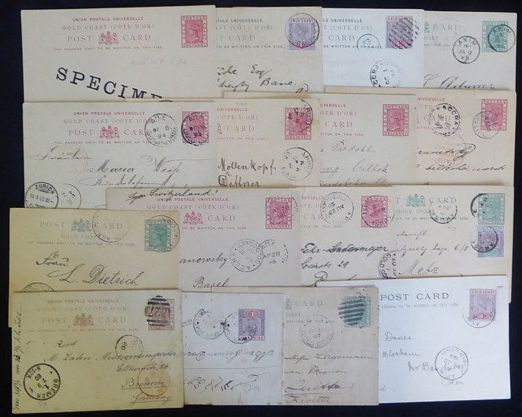 19thC group of QV ½d & 1d postal stationery cards and single 1½d,